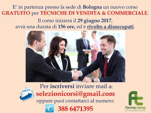 Corso Tecniche di vendita e commerciale Bologna 2017