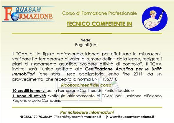 Corso Tecnico Competente Acustica Ambientale Bagnoli (Napoli)