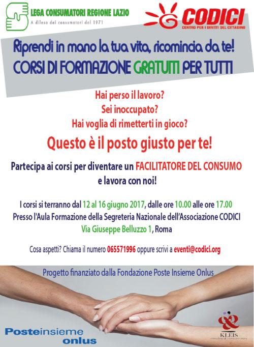 Corso gratis Il Tutor dei Consumatori Roma 2017