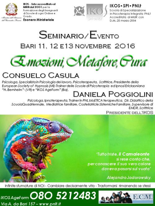 Emozioni metafore cura seminario evento Bari 2016