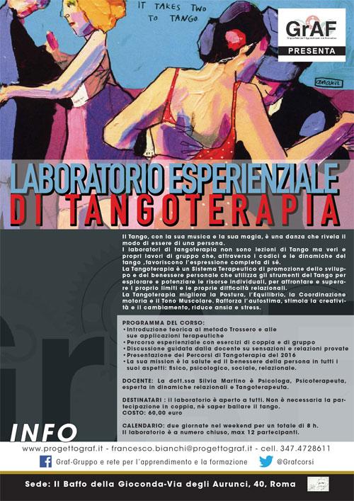 Laboratorio esperienziale tangoterapia Roma 2017