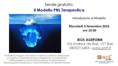 Modello PNL Terapeutica Bari 2016
