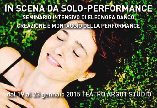 Seminario Performance Teatrale Eleonora Danco Roma