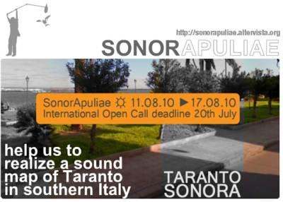 Workshop Estivo in Ecologia del Suono a Taranto