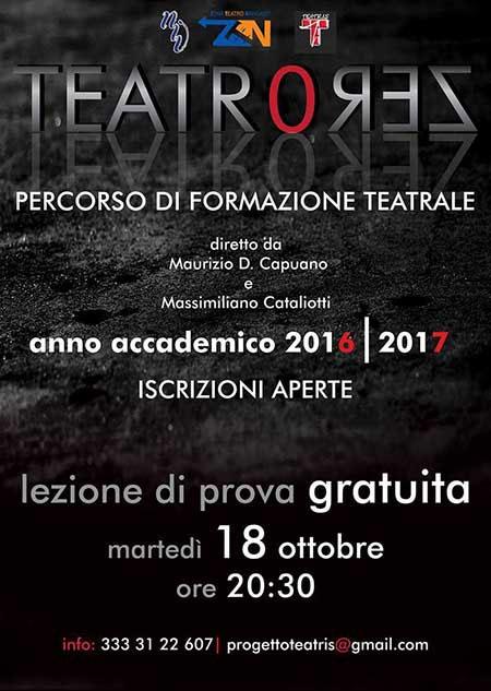 Teatro Zero Corso di Formazione Teatrale 2016 2017 Napoli