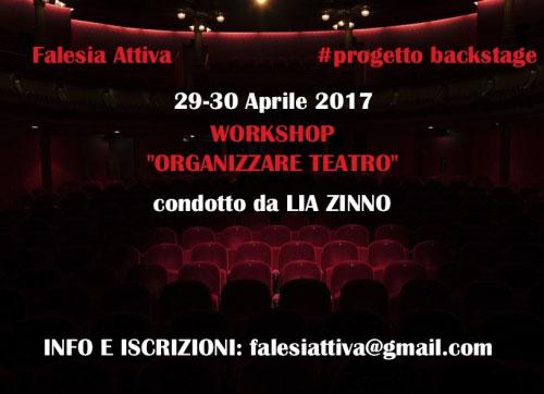 Workshop Organizzare Teatro Roma 29-30 aprile 2017